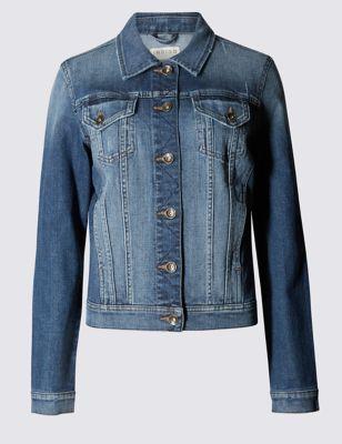Джинсовая куртка свободного кроя Indigo Collection T496648