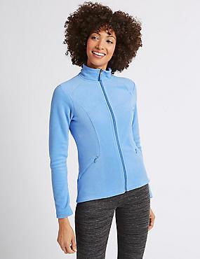 Panelled Fleece Jacket, CORNFLOWER, catlanding
