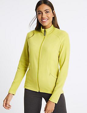 Panelled Fleece Jacket, LIME, catlanding