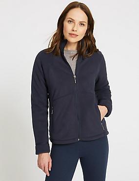 Bonded Fleece 2 Pocket Jacket, NAVY, catlanding