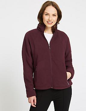 Bonded Fleece 2 Pocket Jacket, DARK GRAPE, catlanding