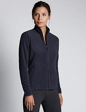 Anti Bobble Fleece Jacket, NAVY, catlanding