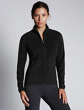 Anti Bobble Fleece Jacket, BLACK, catlanding