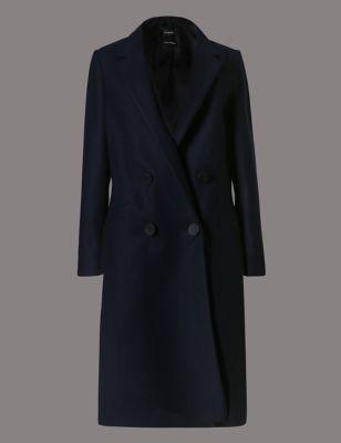 Шерстяное пальто с добавлением кашемира Autograph T499340