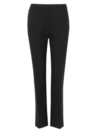 Straight Leg Trousers with Wool Clothing