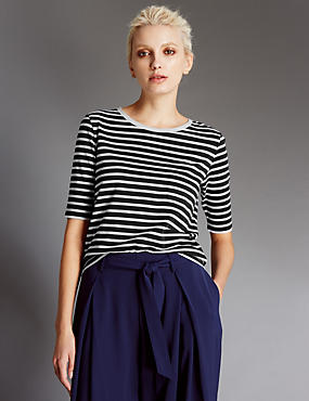 Striped Top with Modal