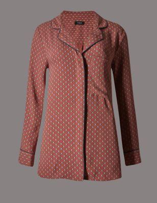 Блузка с мозаичным принтом в стиле