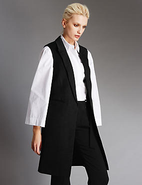 Slubby Sleeveless Jacket
