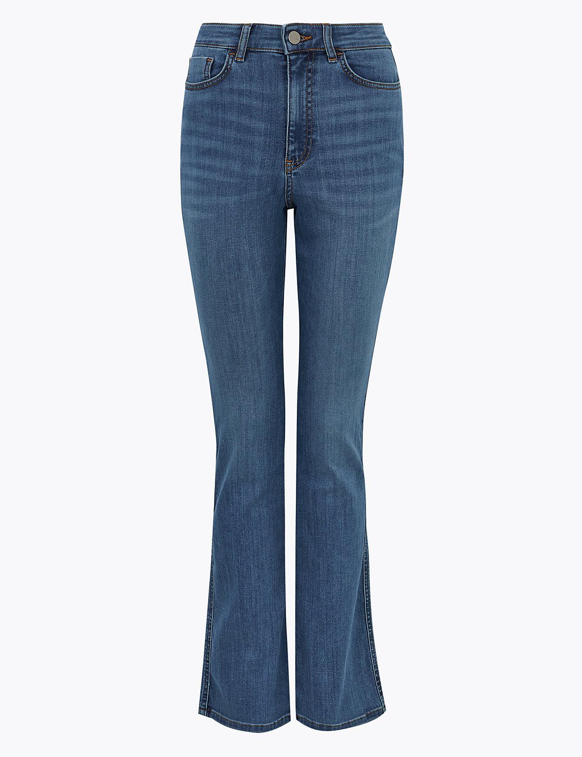 Расклешенные джинсы с высокой талией из хлопка Luxury