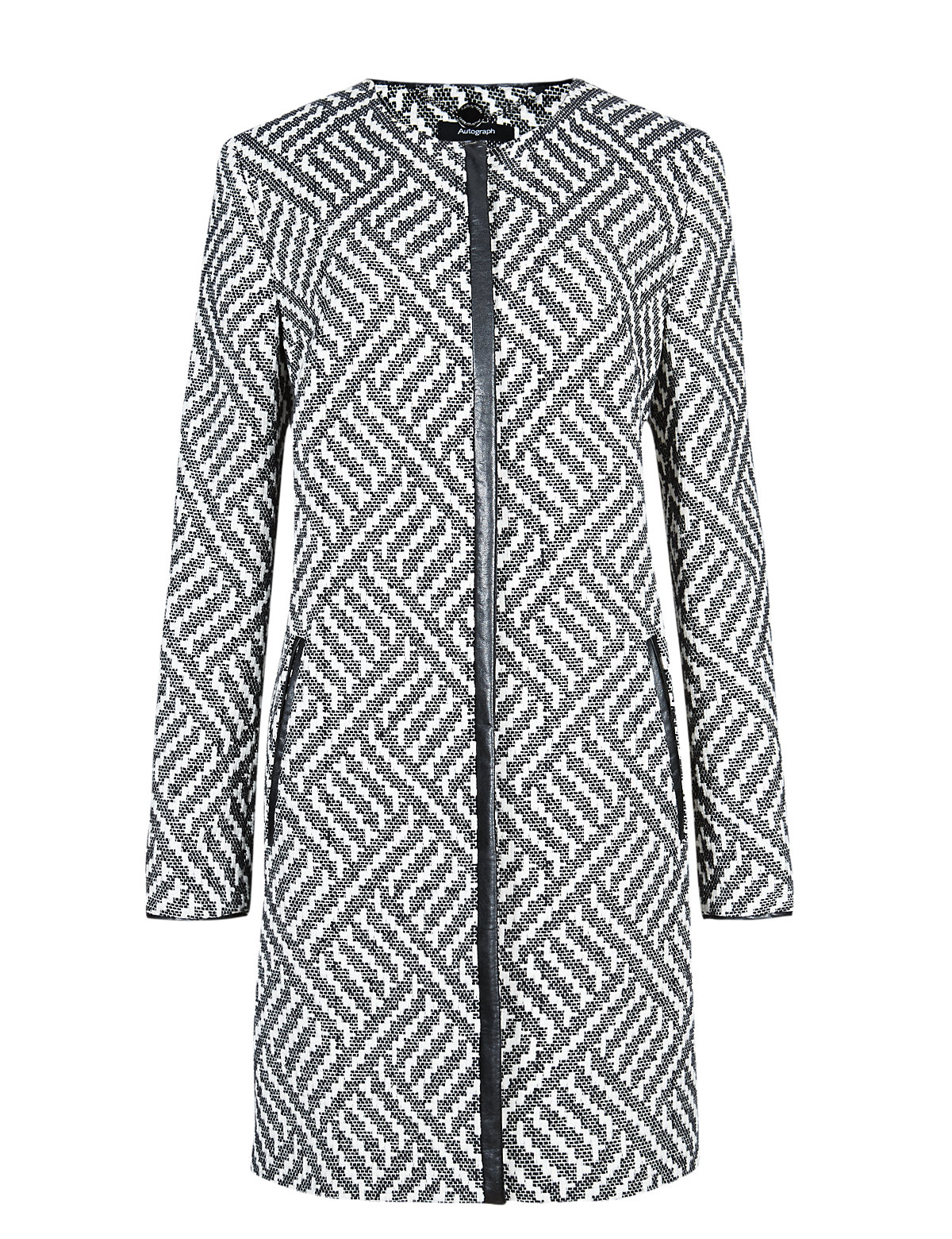 Cotton Rich Graphic Print Coat