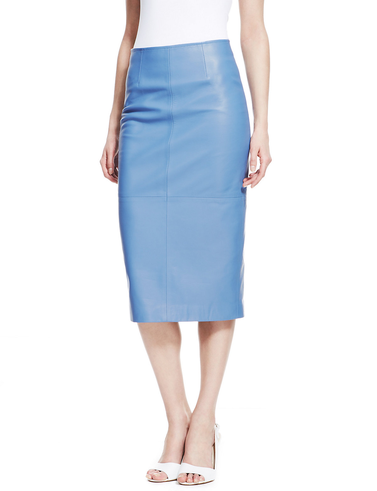 Light blue leather pencil skirt – Modern skirts blog for you