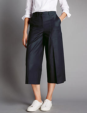 Cotton Rich Centre Crease Culottes