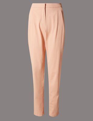 Зауженные брюки из вискозы с добавлением эластана