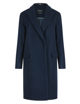 Wool Rich Cocoon Coat Clothing