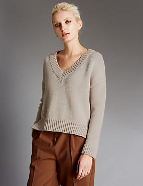 Cotton Rich Chunky Knit Jumper