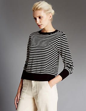 Pure Wool Striped Jumper