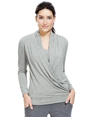 Camiseta cruzada de doble capa con StayNEW™, , catlanding