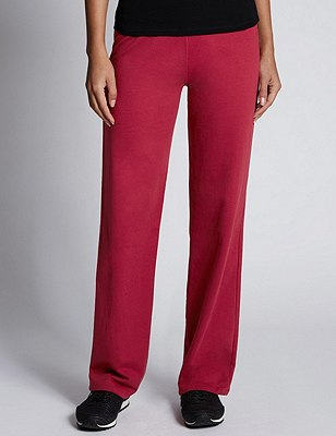 Cotton Rich Straight Leg Joggers, CHERRY RED, catlanding