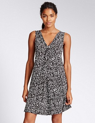 Amalfi Vest Shift Beach Dress, BLACK MIX, catlanding
