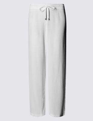 Широкие пляжные брюки из крепа