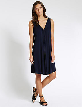 V-Neck Vest Beach Dress with Cool Comfort™ Technology, NAVY, catlanding