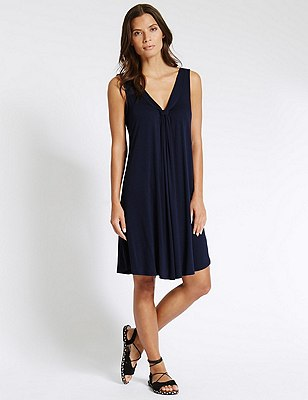V-Neck Vest Beach Dress with Cool Comfort™ Technology, NAVY, catlanding