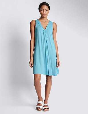 V-Neck Vest Beach Dress with Cool Comfort™ Technology, TURQUOISE, catlanding