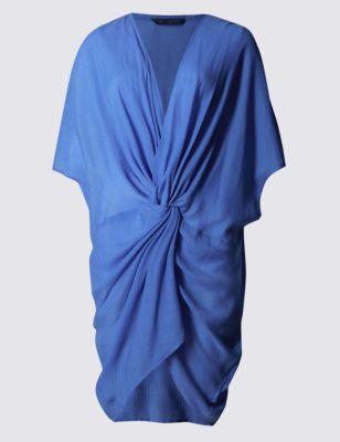 Пляжное платье-кафтан с узлом
