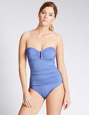Secret Slimming™ Chambray Bandeau Swimsuit