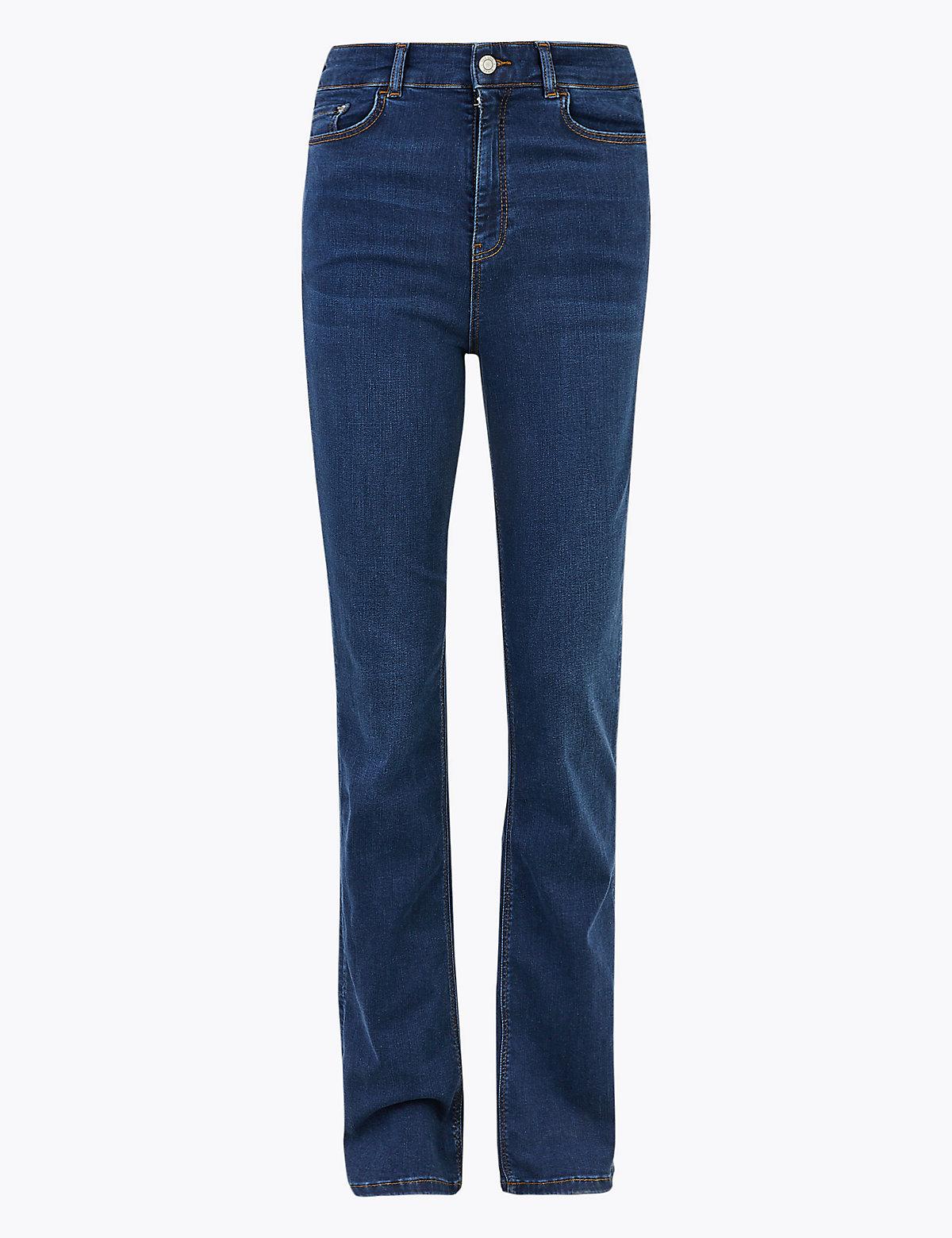 Расклешенные джинсы слим с высокой посадкой