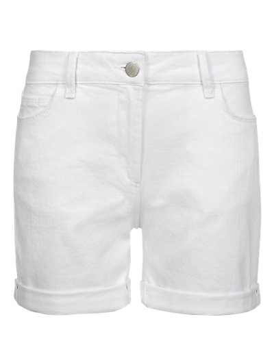 White Boyfriend Denim Shorts Clothing