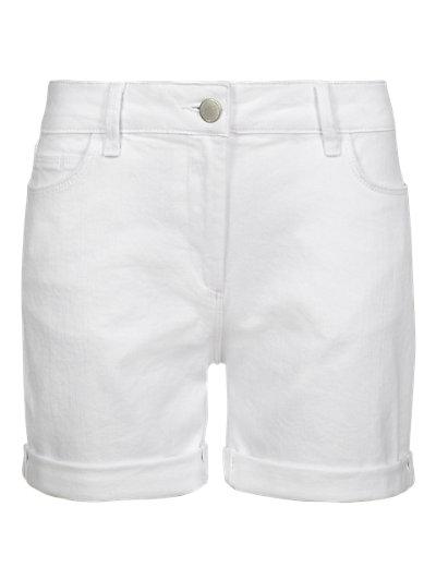 White Boyfriend Denim Shorts Clothing