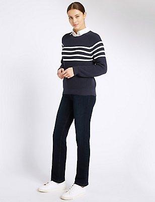 Jeans im Roma-Stil mit geradem Bein, INDIGO, catlanding