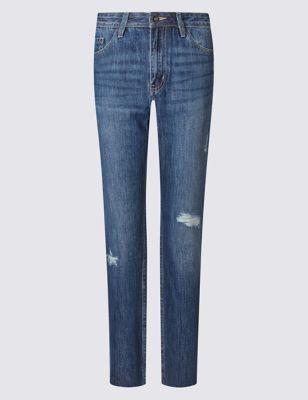 Укороченные брюки средней посадки Indigo Collection T571019I