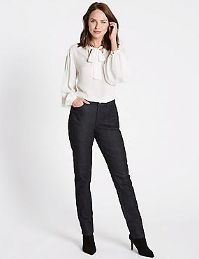 Mid Rise Slim Leg Jeans, INDIGO MIX, catlanding
