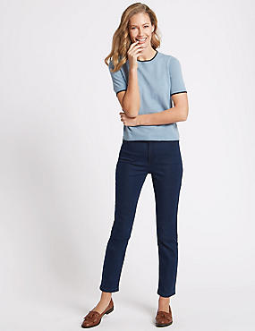 Mid Rise Slim Fit Jeans, MEDIUM BLUE, catlanding