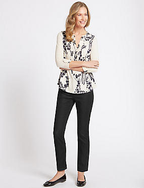Mid Rise Slim Fit Jeans, BLACK, catlanding