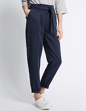 Tencel® Utility Peg Leg Trousers