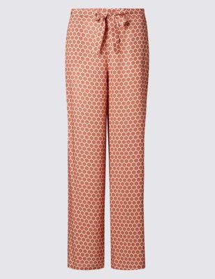 Широкие брюки с геометрическим принтом