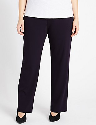 PLUS Ponte Slim Leg Trousers, DARK NAVY, catlanding