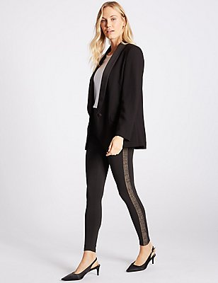 Side Stripe Leggings, BLACK MIX, catlanding