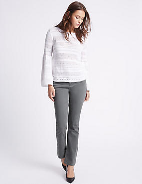 Sculpt & Lift Slim Leg Jeans, GREY, catlanding
