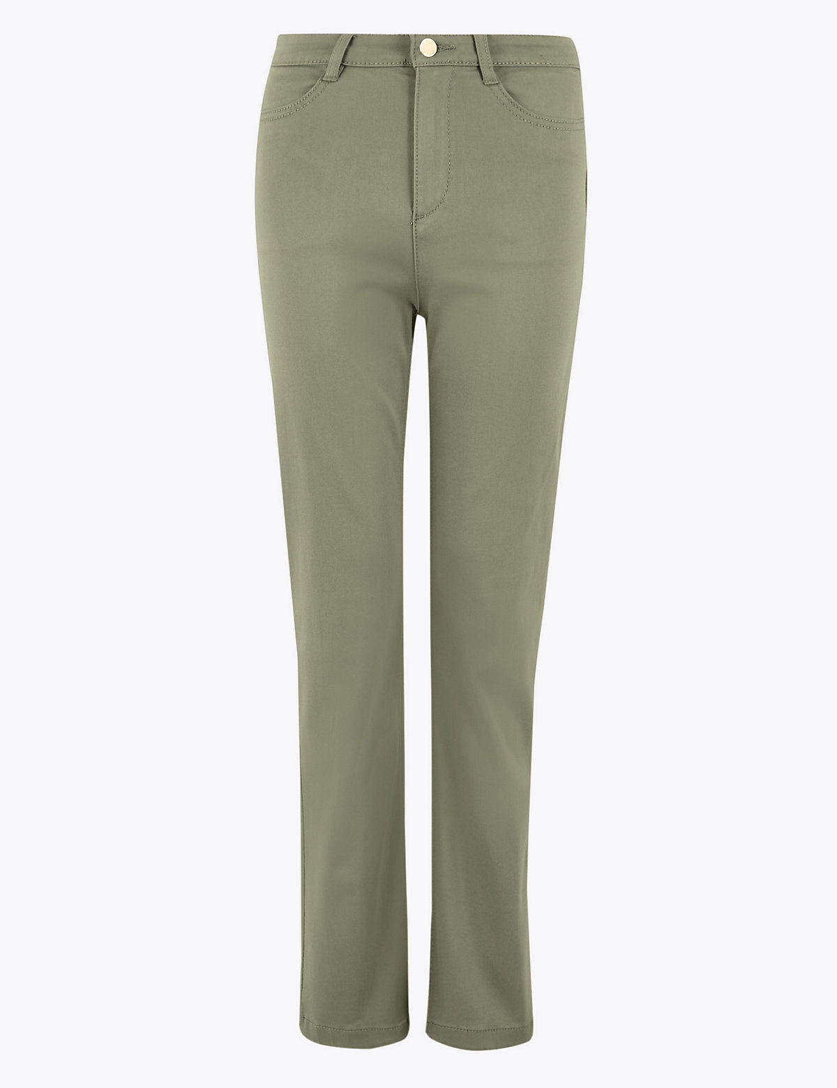 Прямые джинсы с высокой посадкой и стретчевым волокном