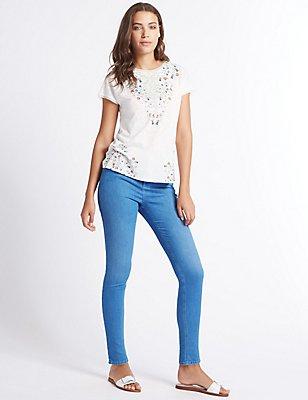 Sculpt & Lift Mid Rise Skinny Leg Jeans, BRIGHT INDIGO, catlanding