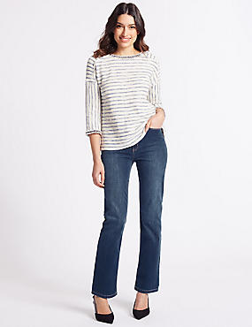 Sculpt & Lift Roma Rise Straight Leg Jeans, MEDIUM BLUE, catlanding