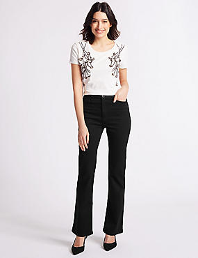 Sculpt & Lift Roma Rise Slim Boot Cut Jeans, BLACK, catlanding