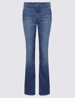 Узкие джинсы буткат с потёртостями M&S Collection T573213
