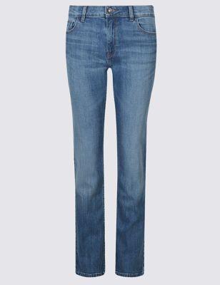 Прямые потёртые джинсы с низкой посадкой Indigo Collection T573215