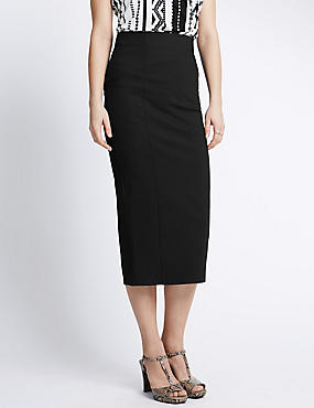 Column Long Pencil Skirt