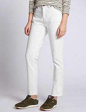 Jeans de pata recta, BLANCO, catlanding